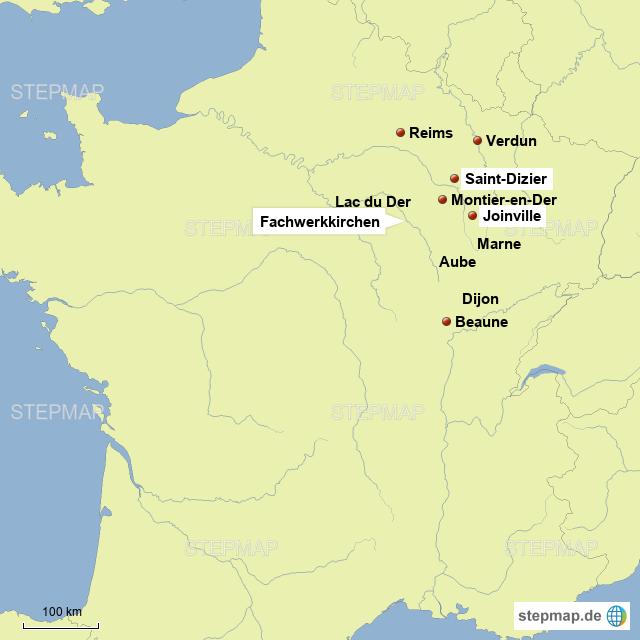 das Gebiet unserer Aktivitäten liegt zwischen den Flüssen Marne und Aube