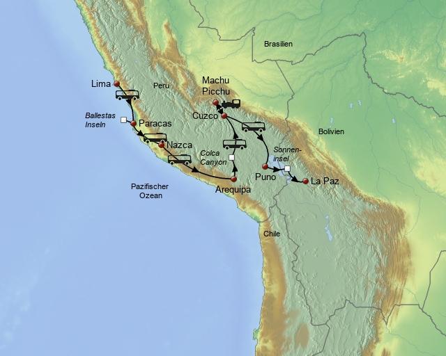 Mit dem Bus von Peru nach Bolivien