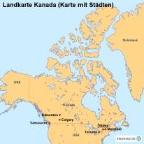 stepmap landkarten und karten zu kanada. Black Bedroom Furniture Sets. Home Design Ideas