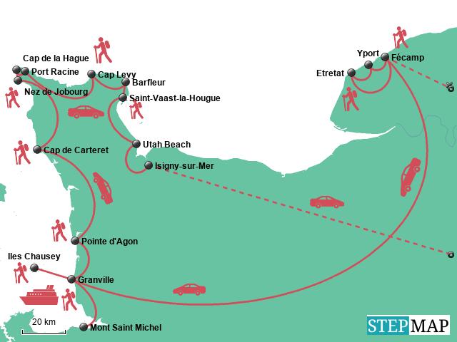 Roadtrip Normandie: Route für 5 Tage