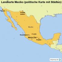 stepmap landkarten und karten zu mexiko. Black Bedroom Furniture Sets. Home Design Ideas