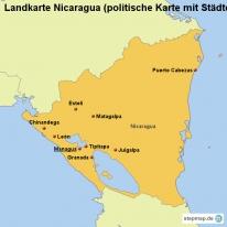 stepmap landkarten und karten zu nicaragua. Black Bedroom Furniture Sets. Home Design Ideas
