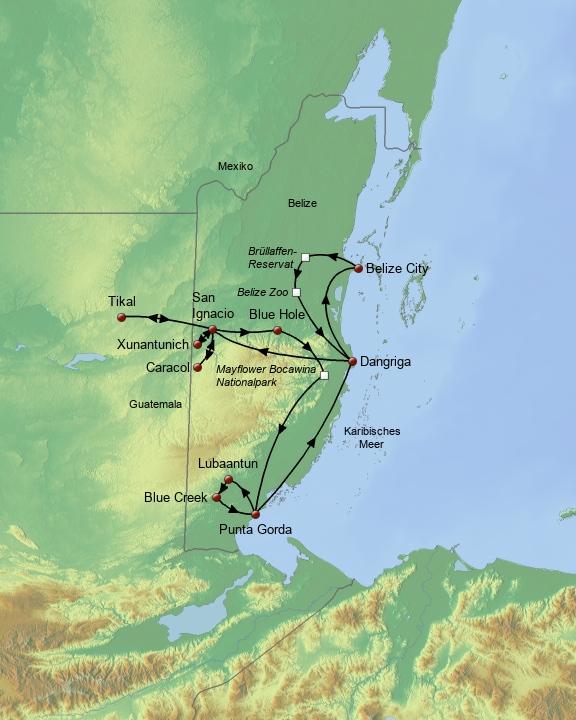 Maya Route Belize & Tikal