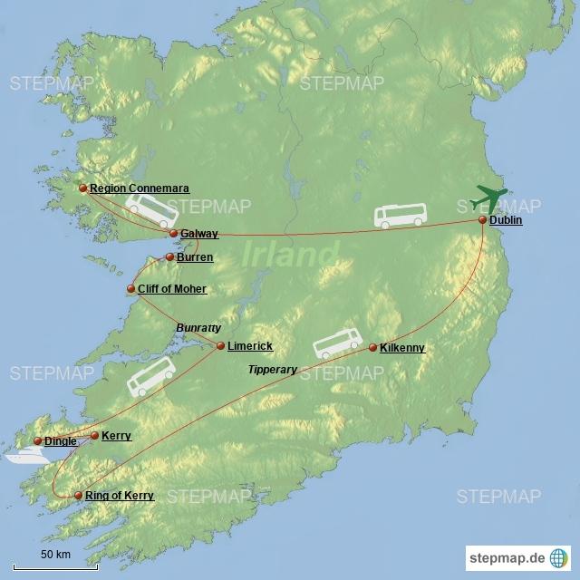 Busrundreise 8 Tage Irland