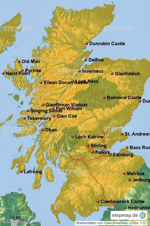 Schottland Reiseroute