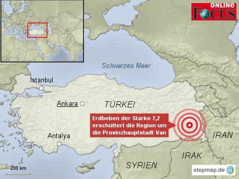 Erdbeben erschüttert die Türkei