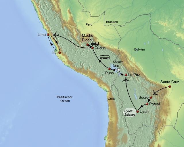 Über die Anden von Bolivien nach Peru
