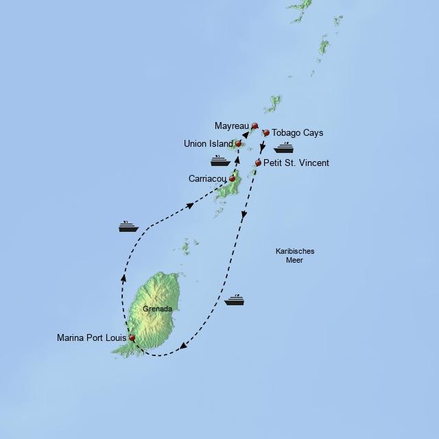 Segeltörn Grenadinen 2018/2019