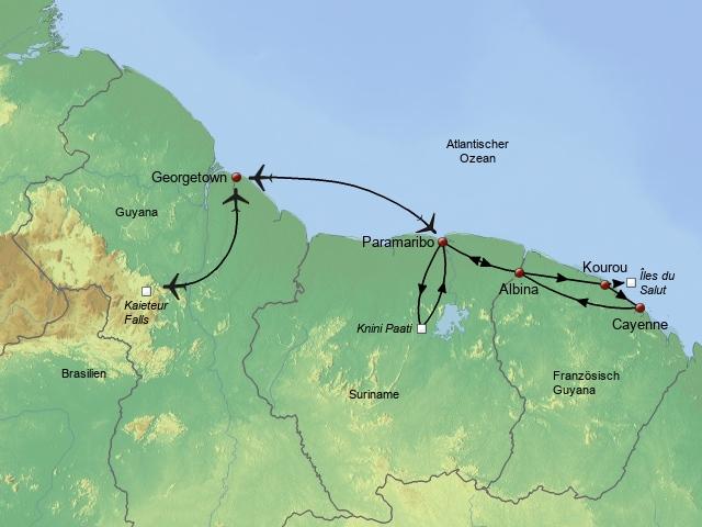 Die drei Guyanas