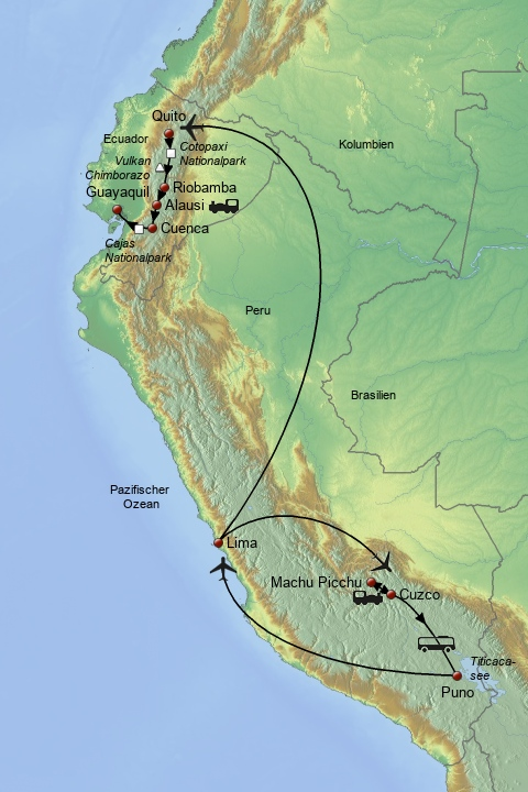 Höhepunkte Perus & Ecuadors