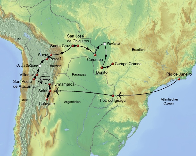 Südamerikas Natur der Gegensätze