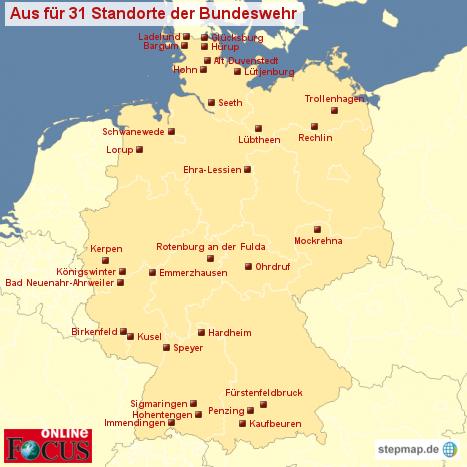 Schließung Bundeswehr-Standorte
