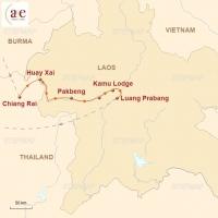 Routenkarte zur Reise Luangsay Cruise auf dem Mekong – Neuer Verlauf