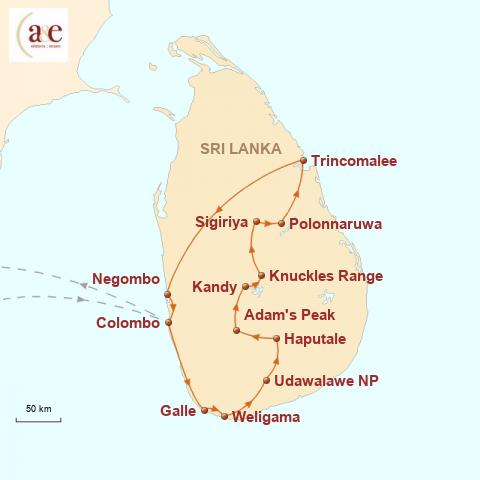Sri Lanka Karte Zum Drucken.Sri Lanka Gruppenreise Freiheit Spüren A E Erlebnisreisen