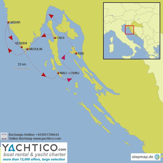 Urlaub in Istrien: Segeln mit Yachtico.com