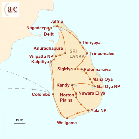Sri Lanka Karte Zum Drucken.Sri Lanka Urlaub Abseits Ublicher Pfade A E Erlebnisreisen