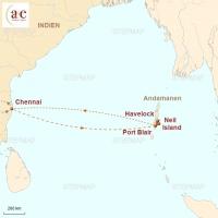 Routenkarte zur Reise Inselträume auf den Andamanen