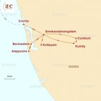 Routenkarte zur Reise Sternreise: indischen Alltag erleben
