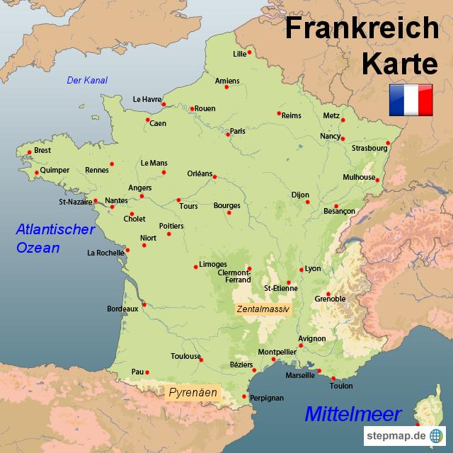 Nordfranzösisches Becken stepmap landkarten und karten zu frankreich