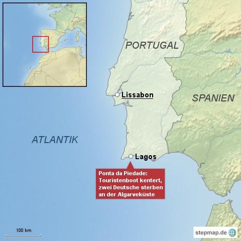 Zwei Deutsche sterben an Algarveküste