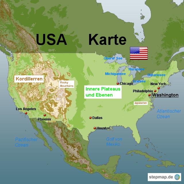 USA Karte