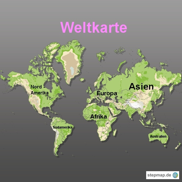 Weltkarte erstellen