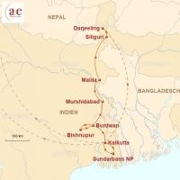 Routenkarte zur Reise Zur Durga Puja nach Kalkutta