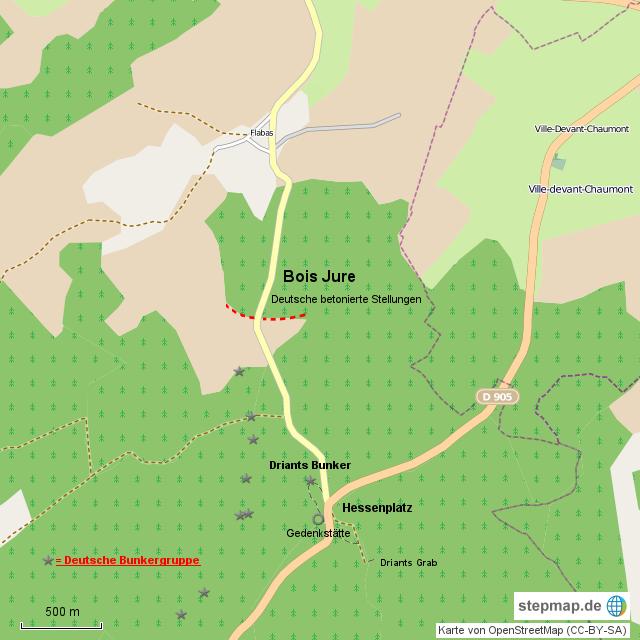 Deutsche Bunkergruppe im Caureswald