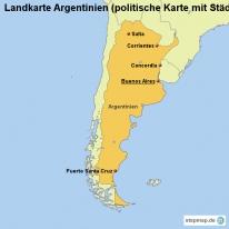 stepmap landkarten und karten zu argentinien. Black Bedroom Furniture Sets. Home Design Ideas