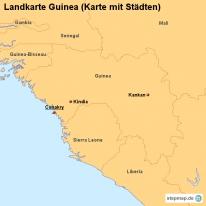 stepmap landkarten und karten zu guinea. Black Bedroom Furniture Sets. Home Design Ideas