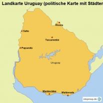 stepmap landkarten und karten zu uruguay. Black Bedroom Furniture Sets. Home Design Ideas