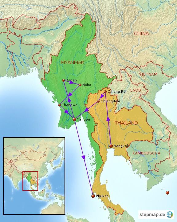 Gesamtroute Asien2012