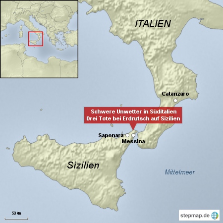 Schwere Unwetter in Süditalien