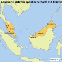stepmap landkarten und karten zu malaysia. Black Bedroom Furniture Sets. Home Design Ideas