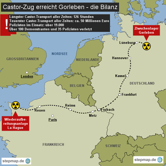 Castor erreicht Gorleben - die Bilanz