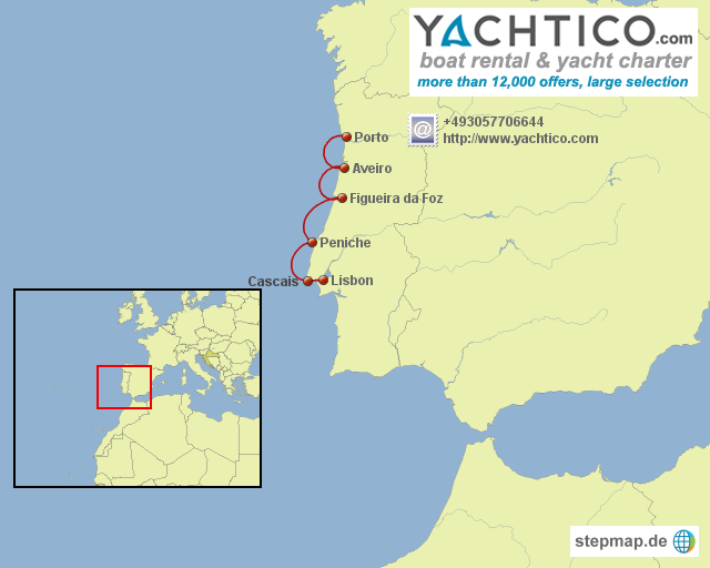 Sailing Along The Portugese Coast