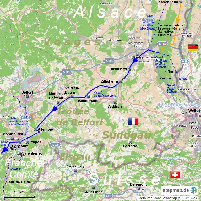 Canal du Rhône au Rhin III - Trouée de Belfort