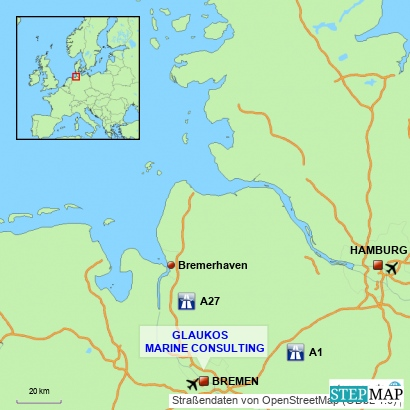 Glaukos Location Map