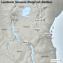 stepmap landkarten und karten zu tansania. Black Bedroom Furniture Sets. Home Design Ideas