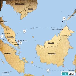 Malaysia Reiseroute