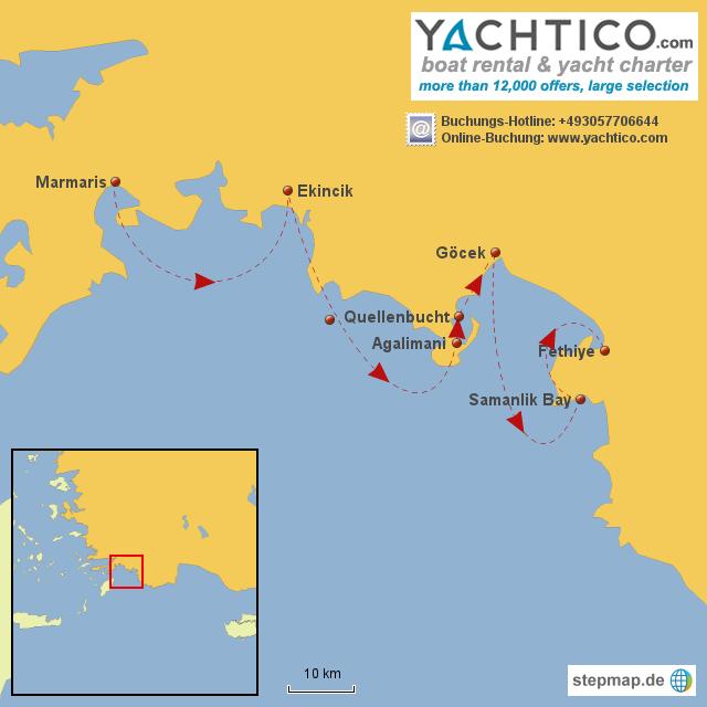 Segeln von Marmaris bis Fethiye