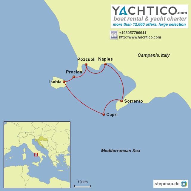 Sailing around Campania from Naples