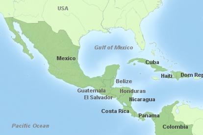 Zentralamerika Hauptkarte