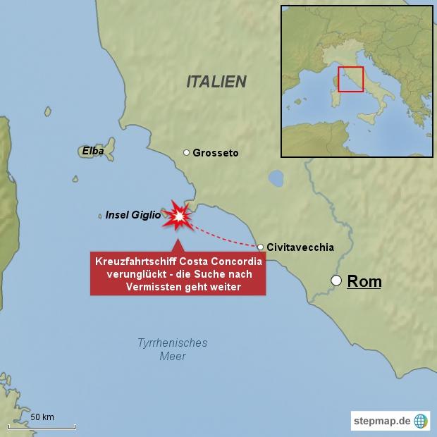 Costa Concordia verunglückt