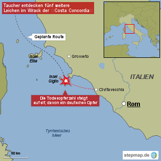 "<span class=""rtr-schema-org"" itemscope="""" itemtype=""http://schema.org/Product""><meta itemprop=""name"" content=""Costa Concordia"">Costa Concordia</span>: Erstes deutsches Todesopfer"