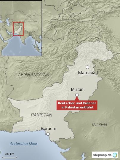 Deutscher und Italiener in Pakistan entführt