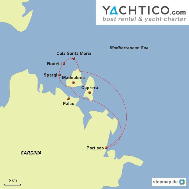 Yachtcharter Sardinia, Urlaub auf La Maddalena