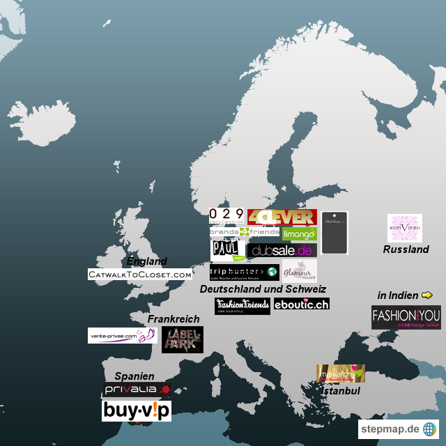 Private Shoppingclubs in Europa